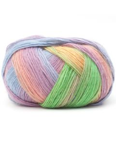 Lang Yarns Jawoll Magic Dégradé 55 Lila/gras bij de Breiboerderij