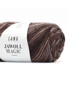 Lang Yarns Jawoll Magic (stripe) Donkerbruin/zand (268)