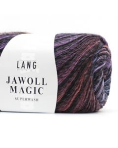 Lang Yarns Jawoll Magic (stripe) Paars/zwart (46)