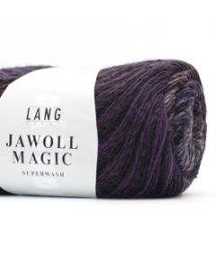 Lang Yarns Jawoll Magic (stripe) Donkerpaars/zwart (80)