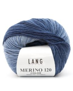 Lang Yarns Merino 120 Color Triple blauw (34)