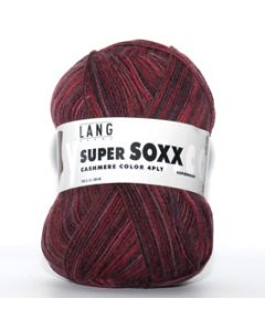 Lang Yarns Super Soxx Cashmere Color 4-Ply Bordeaux (16) bij de Breiboerderij