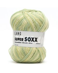 Lang Yarns Super Soxx Cashmere Color 4-Ply Lime (24) bij de Breiboerderij